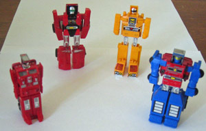 Gobots batch #1, robot form
