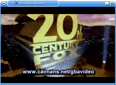 Caiman's Video in VisualBoyAdvance