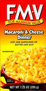 FMV-brand Macaroni and Cheese