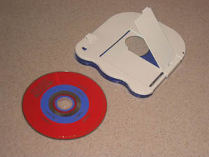 V.Flash V-Disc, separated from cartridge