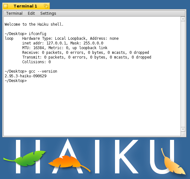 Haiku terminal and logo