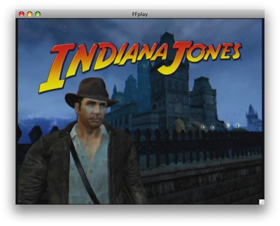 Screenshot of the attract mode Bink video from Indiana Jones and the Emperor's Tomb