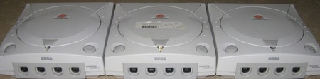 3 Dreamcast consoles in a row