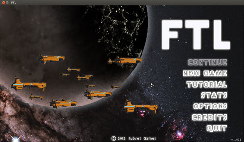 FTL game running on Linux through Steam
