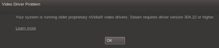 Steam Linux Client -- Upgrade NVIDIA drivers