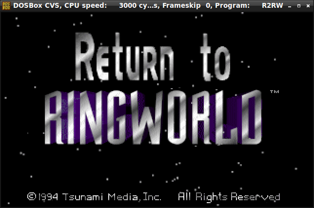 Return to Ringworld Title Screen