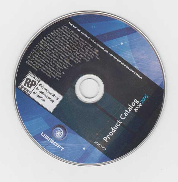 Ubisoft 2004 Product Catalog CD-ROM